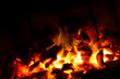 Abstract fire isolated on the black background
