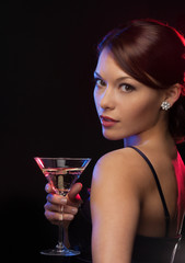 woman with cocktail