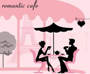 Романтическое кафе, чаепитие