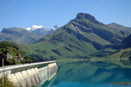 Aluminium Dam barrage de roselend -savoie