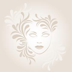 elegant  mask with ornament
