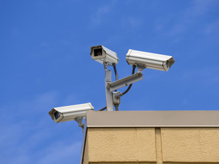 Three roof security cameras