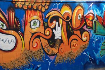 GRAFFITI ABSTRACTO DE VARIOS COLORES. ABSTRACTO