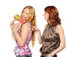 Two Women with Lollipop