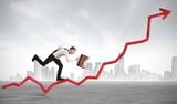 Businessman rises statistics