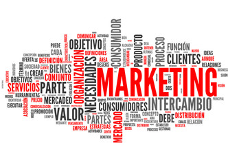 Marketing (tag cloud español)
