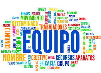 Equipo (tag cloud español)