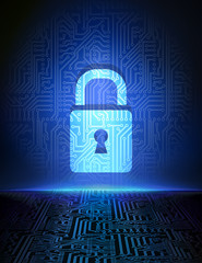 Cyber security concept background.