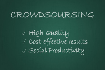 Crowdsourcing chalkboard