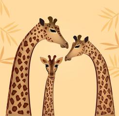 Giraffes family