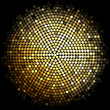 Vector gold disco lights background
