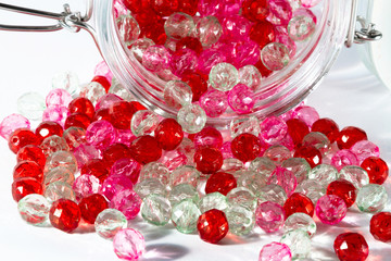Pink and red beads