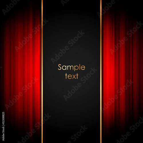 Vector illustration of stage