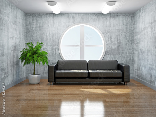 Old room with sofa
