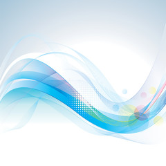 Abstract smooth lines wave background.