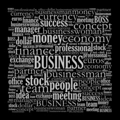 Business related word cloud illustration