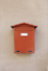 Old mailbox post