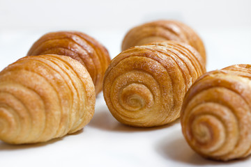 isolated breakfast croissants
