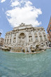 Architectural Detail of Trevi Fountain in Rome