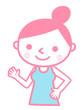 女性トレーナー(ピンク)