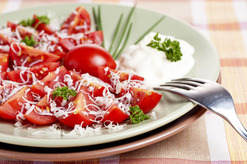 salad from tomatoes
