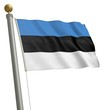 Die Flagge von Estland flattert am Fahnenmast