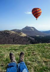 Montgolfière Randonneur et Puy de Dôme