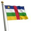 Die Flagge von Zentralafrikanische Republik am Fahnenmast