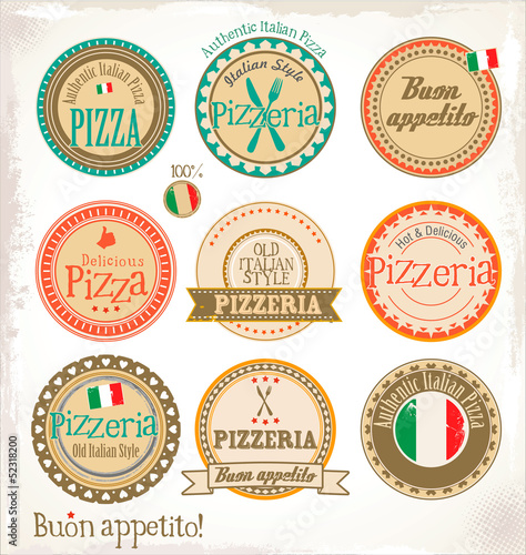 Pizza stamp - set
