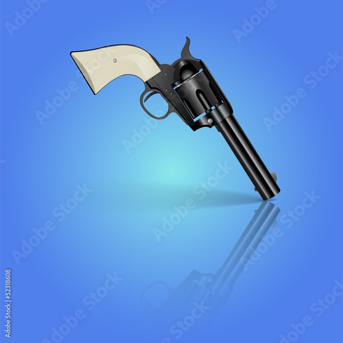 Revolver. Vector illustration