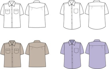 Vector illustration of men's shirts
