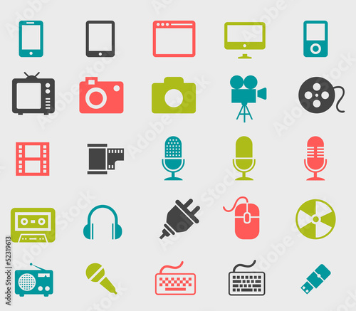 Set icones colorés
