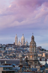 The Basilica of the Sacred Heart - Sacre coeur, Paris at sunrise