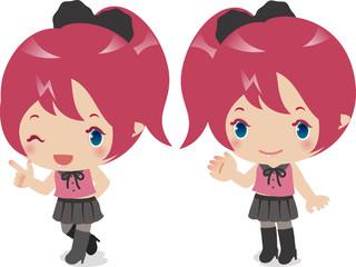アニメキャラクターのような女の子