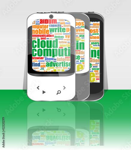 business brochure, smartphone set flyer template