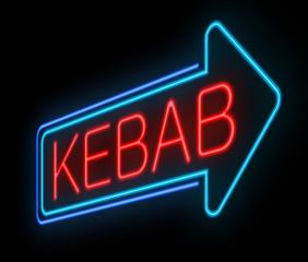 Neon kebab sign.