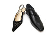 Black male shoe and female shoe