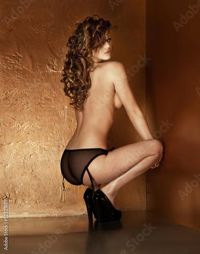 Sensual attractive naked lady posing. © pawelsierakowski