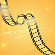 vector illustration of film strip for cinema designing