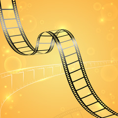vector illustration of film strip for cinema designing
