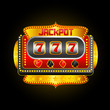 vector illustration of casino slot machine showing jackpot