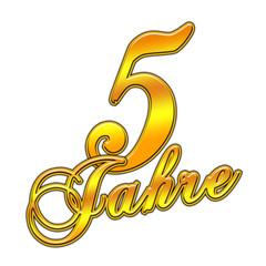 Jubiläumszahl - 5 Jahre