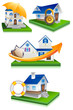 vector illustration of collection of home protection design
