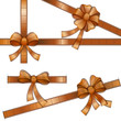 vector illustration of bow with film strip ribbon