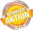 """Button Banner """"Sommeraktion"""" Sonne gelb/silber"""