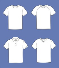 Vector illustration of t-shirts