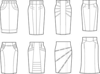 Vector illustration of skirts