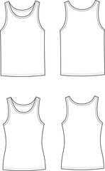 Vector illustration of men's and women's singlets