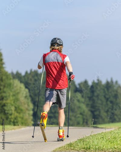 Ausdauertraining auf Skirollern