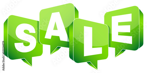 "Speechbubbles ""SALE"" Green"